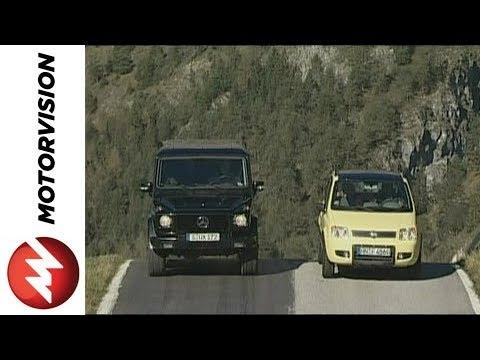 Fiat Panda 4x4 vs. Mercedes G Class