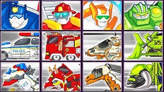 Transformers Rescue Bots: Sky Forest Rescue + Dino Robot Corps | Eftsei Gaming