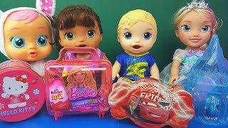 Comprinhas e Surpresas Hello Kitty Frozen Carros Barbie Tia Fla Kids