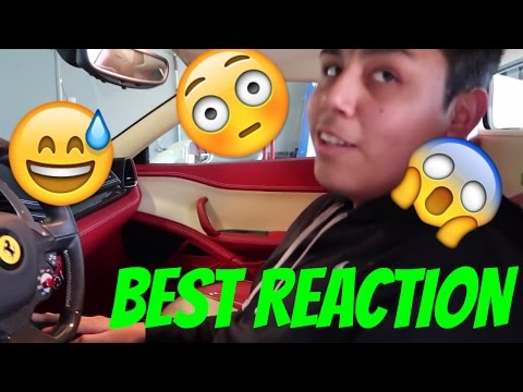 18 Year Old Sees Ferrari For First Time In His Life – FUNNY REACTION – Ferrari 458 Spyder COLD START