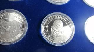 Yugoslavia Olympic Games Sarajevo Silver Coins Set 500 250 100 Dinara