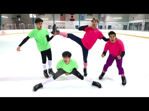 FUNNY ICE SKATING COMPETITION