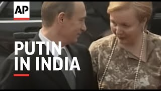 Russian president in India on official tour
