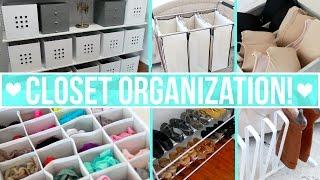 Closet Organization Ideas!