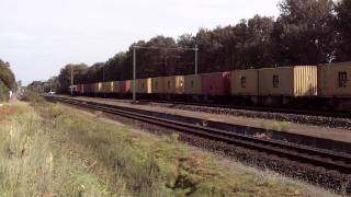 Class66 Crossrail with container train must stop for red signal