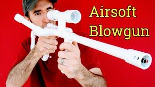 Airsoft Machine Gun Sniper Rifle DIY PVC Homemade Blowgun