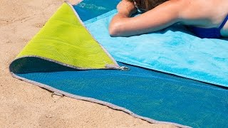 Watch sand fall through this mat—and never come back.