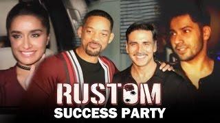 Akshay Kumar's RUSTOM Success Party | Varun Dhawan, Will Smith, Shraddha Kapoor