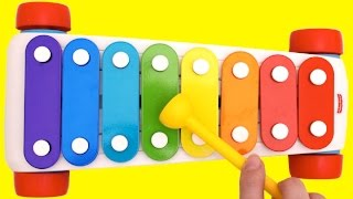 Xylophone Finger Family Nursery Rhymes Learn Colors for Kids Body Paint RL