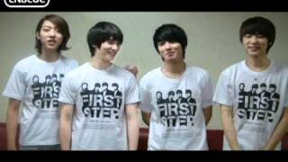 CNBLUE FIRST STEP greeting