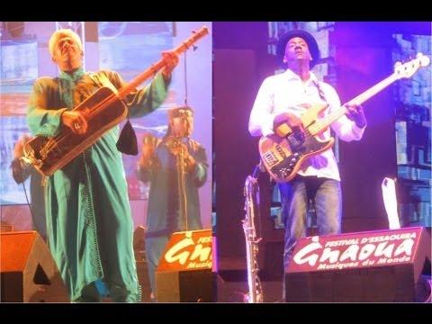 Maâllem Mustapha Baqbou & Marcus Miller Jam Session at Essaouira