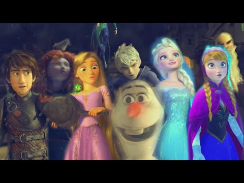 Rise of the Brave Tangled Frozen Dragons || We Are Family [MV]