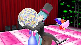 [MMD] Magician Miku in Magical Balloon Popping Show.