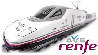 TRAINS FOR CHILDREN VIDEO: Renfe AVE Pequetren Ref. 720 Spanish High-Speed Train Toys Review