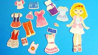 ألعاب بنات - تلبيس فساتين و اكسسوارات مغناطيس Girls magnet toys