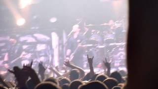 Michael Poulsen call on throwing beer idiot to fight on stage - Volbeat in Hohenems Austria 2013