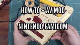 How to AV mod the Japanese Nintendo Famicom console with composite video