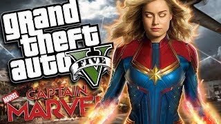 Marvel Studios' Captain Marvel MOD w/ Super Powers (GTA 5 PC Mods Gameplay)