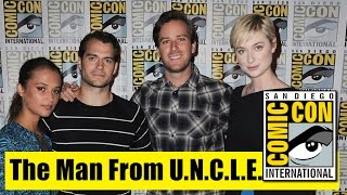 The Man From UNCLE | Comic Con 2015 Full Panel (Henry Cavill, Armie Hammer, Alicia Vikander)