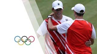 Mike & Bob Bryan Win Tennis Doubles Gold V Tsonga & Llodra - London 2012 Olympics