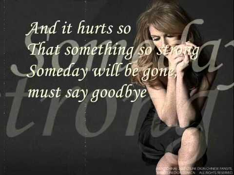Xxx Mp4 Celine Dion Goodbye S The Saddest Word With Lyrics 3gp Sex