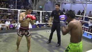 Lee Jung Su  from Korea (Red corner- Sinbi Muay Thai) fights at Bangla Stadium- 6/8/2017
