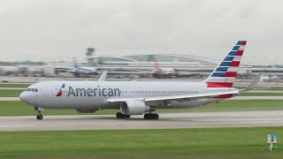O'Hare Int'l Airport Plane Spotting - Runway 22-Left Saturday Morning Rush Departures [5.30.2015]