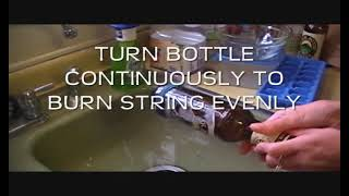 How to cut a bottle using household items!