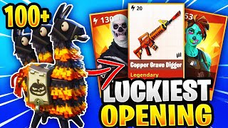 LUCKIEST Fortnitemare Llama Opening Ever! *NEW GUNS* Fortnite Save The World