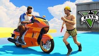 GTA V Online: MOTOS vs PARKOUR - MUITO INSANO!!!