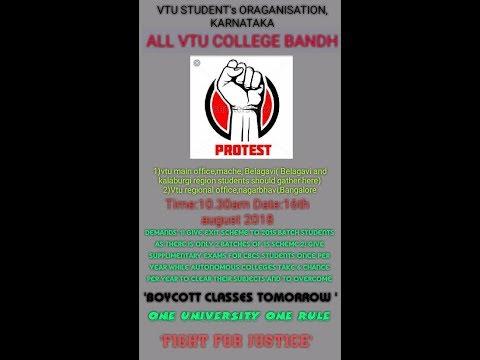 Xxx Mp4 VTU CBCS STUDENTS PROTEST AGAINST VTU ON 16 AUG 2018 3gp Sex