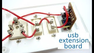 how to make usb charging at electric extension board