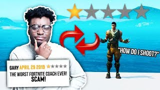 I SIGNED Up to be a One-Star Fortnite Coach and trained kids HORRIBLY...