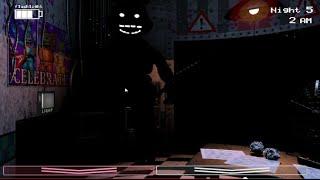 Five Nights at Freddy's 2 Night 5 Weird black shadow/ Dark Bonnie/shadow bonnie thing on my stream!