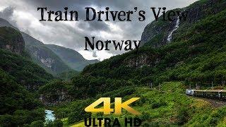 Train Driver's View: Flåm to Myrdal with Sun and Rain In 4K UltraHD