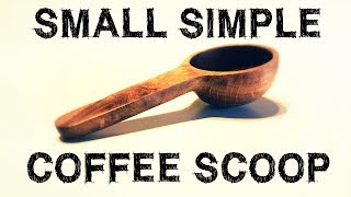 Small and Simple Oak Wood Coffee Scoop