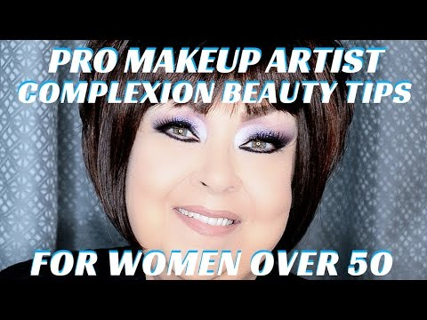 Complexion Beauty Tips for Women Over 50 Step by Step Makeup Tutorial PART 2 mathias4makeup