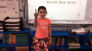 3rd Graders with tips on saving water