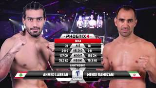 Ahmed Labban vs Mehdi Ramezani Full Fight (MMA) | Phoenix 4 Dubai | December 22nd 2017.