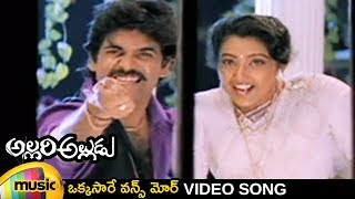Allari Alludu Telugu Movie Video Songs | Okkasare Full Song | Nagarjuna | Meena | Mango Music