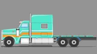 Kids TV Channel | Flatbed Truck | vehicle assembly  | Educational Video