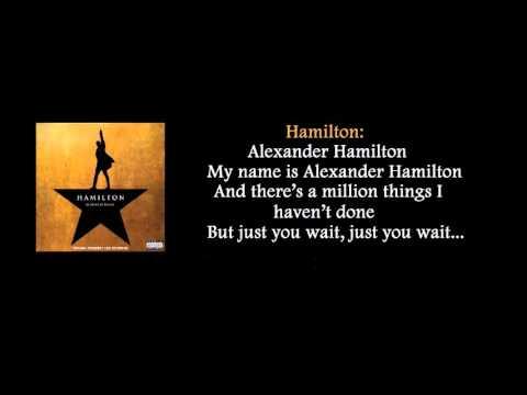 Hamilton Alexander Hamilton lyrics