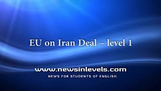 EU on Iran Deal – level 1