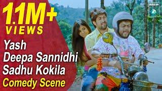 Jaanu Kannada Movie Comedy Scenes 3   Yash, Sadhu Kokila, Deepa