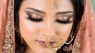 Gold and Bronze Bold Glitter Makeup