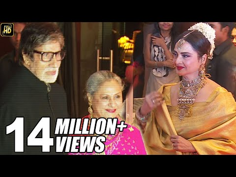 Amitabh Bachchan And Rekha At Neil Nitin Mukesh Wedding Reception