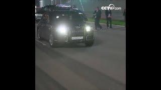 بوتين يقود السيارة شخصيا ويقوم بالجولة في مضامر فورمولا 1 مع السيسي|CCTV Arabic