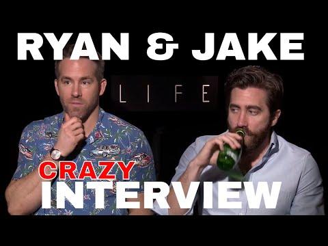 Ryan Reynolds & Jake Gyllenhaal HILARIOUS interview for LIFE film