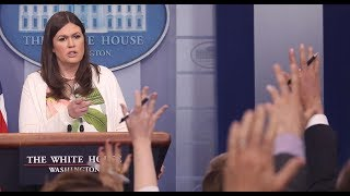Watch reporters clash with Sanders during the White House briefing