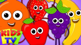 Five Little Fruits Fruits Song Learn Fruits Nursery Rhymes Kids Songs kids tv S03 EP04